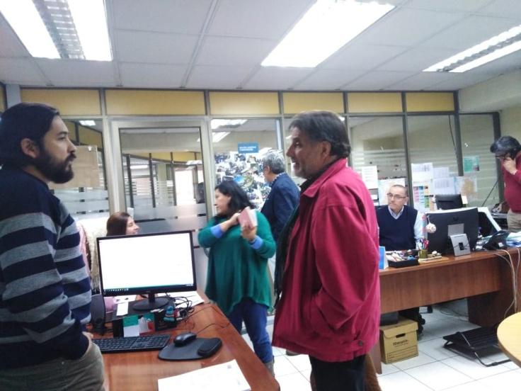 Visita del diputado Amaro Labra, PRESIDENTE DE LA COMISIÓN DE CULTURA